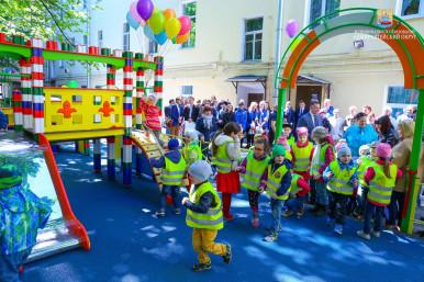 Торжественное открытие детской площадки в  Адмиралтейском округе