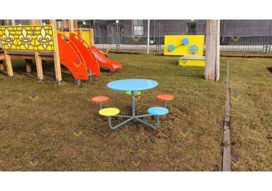детский столик семицветик для площадки