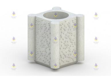 Урна бетонная тип-3 с вкладышем
