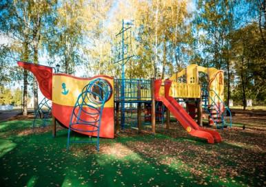 Открытие новой детской площадки в Великом Устюге
