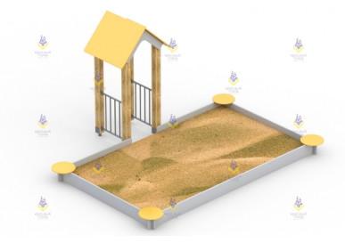 Песочный дворик с башенкой