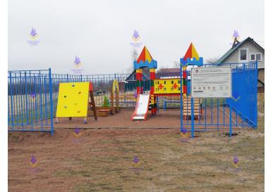 Новая площадка в деревне Мишкино, Ленинградская область.