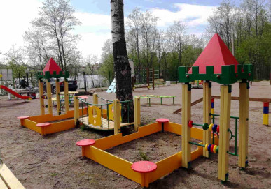 Новая спортивно-игровая площадка в садоводстве «Юбилейное»