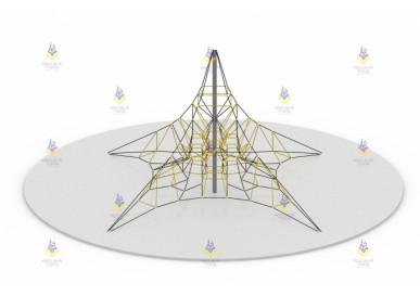 Пирамида 8м (чёрно-бежевая)