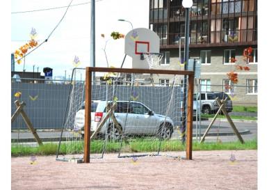 Ворота для мини футбола с баскет. кольцом