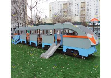 игровой комплекс поезд для детской площадки