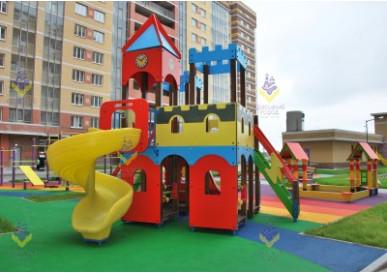 Детские  игровые площадки в новом жилом комплексе