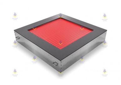 Батут квадрат встраиваемый 160  (прыж. пов. 100х100) красный