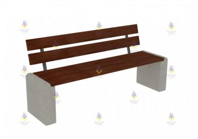 Скамейка бетонная со спинкой тип-4