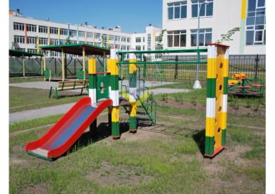 миниспорт комплекс со скалолазом детский