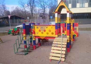 детский игровой комплекс лошадки на кубах