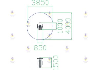 Уличный тренажер Маятник + Раздельный маятник