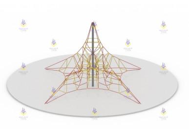 Пирамида 8м (красно-жёлтая, пластик жёлтый)