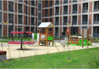 """У ЖК """"Петровский квартал на воде"""" установлена потрясающая детская площадка"""