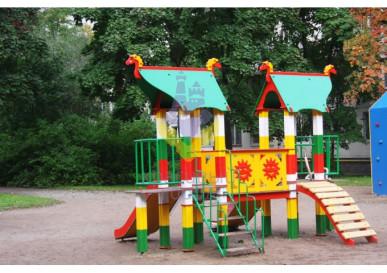 детский игровой комплекс русская сказка