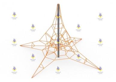 Сетка пирамида 6м (чёрно-бежевая)