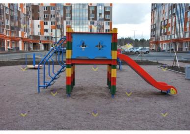 уличная горка 900 для детской площадки