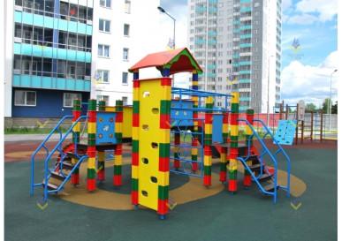 комплекс спортивный городок с горками для детской площадки