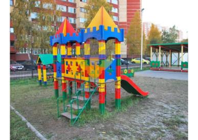 детский игровой комплекс маленькая крепость