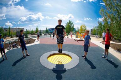 Встраиваемые батуты для детских площадок