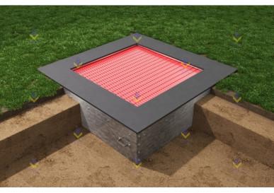 Квадрат батут для детской площадки 210  (прыж. пов. 151х151)