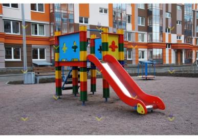 Горка на кубиках высотой 900 для детской площадки