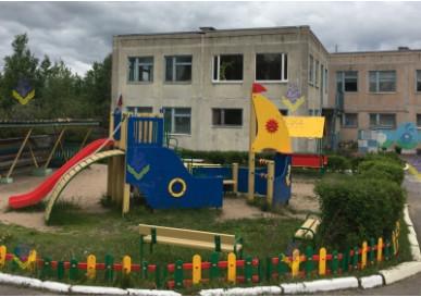 Детская площадка в ДС деревни Лосево