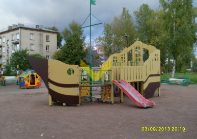 детский игровой комплекс фрегат