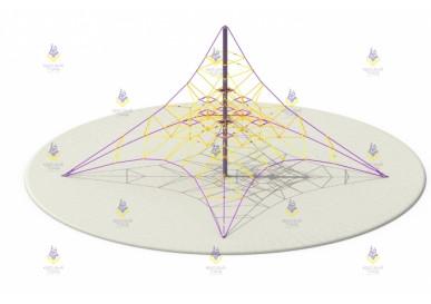 Пирамида 8м (фиолетово-жёлтая, пластик жёлтый)